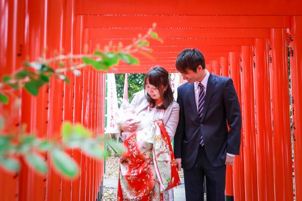 伊奴神社(名古屋市西区)でお宮参り写真の出張撮影