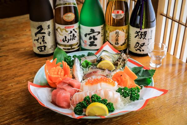 商用撮影 日本料理 刺身 日本酒