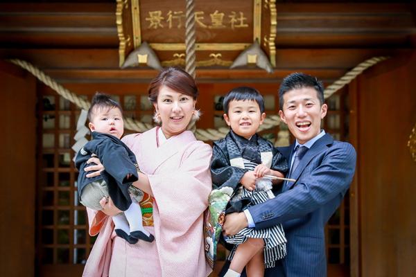 景行天皇社(愛知県長久手市)で七五三参り 出張撮影