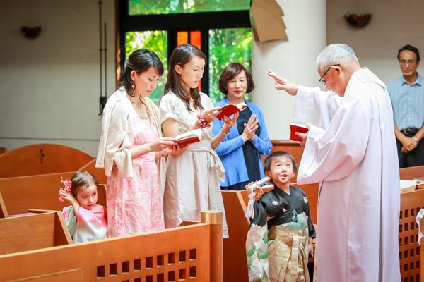 キリスト教会での七五三の儀式