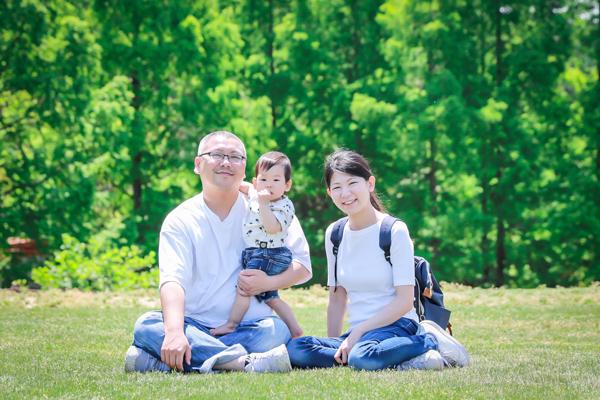モリコロパーク(愛知県長久手市)で家族写真
