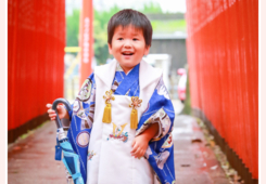 深川神社(愛知県瀬戸市)で七五三まいり写真の出張撮影 名古屋市守山区在住の3才の男の子