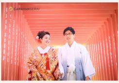 ブライダル・ウェディング(結婚式)写真 深川神社(愛知県瀬戸市)で神社婚