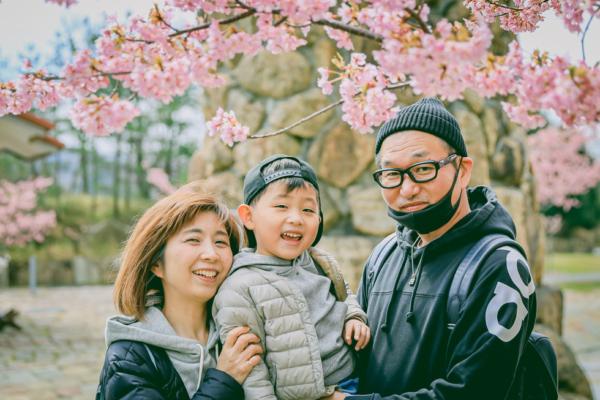 ブルーメの丘(滋賀県)で家族写真のロケーションフォト