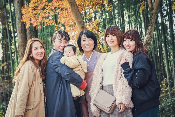 家族・親族の集合写真 女性のみ 豊田市