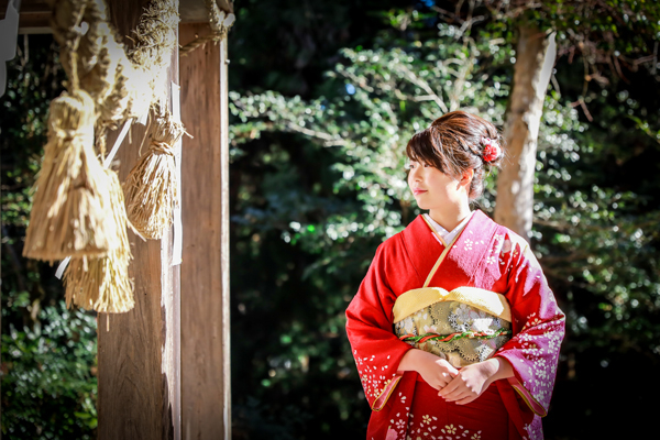 成人式のロケーション撮影 愛知県豊田市の神社