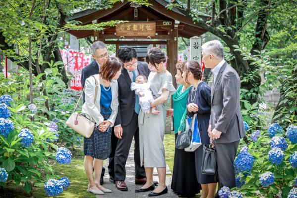 紫陽花の咲く季節に若宮八幡社へお宮参り 名古屋市中区