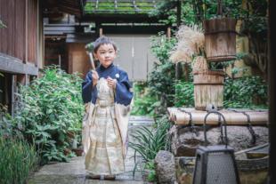 那古野神社で七五三 5歳の男の子