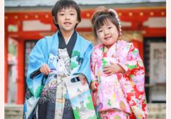 大縣神社(愛知県犬山市)で兄弟そろって♪七五三のロケーションフォト