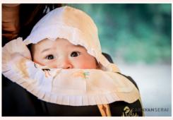 お宮参り 男の子 産着と帽子、よだれかけ