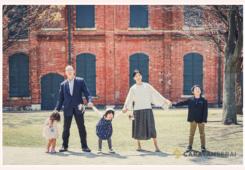 結婚10周年記念の家族写真 名古屋市